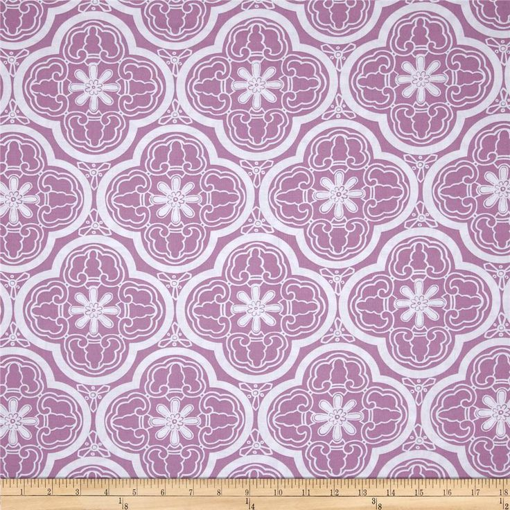Designed by Thomas Paul for Michael Miller, this cotton print fabric is perfect for quilting, apparel and home decor accents. Colors include purple and white.