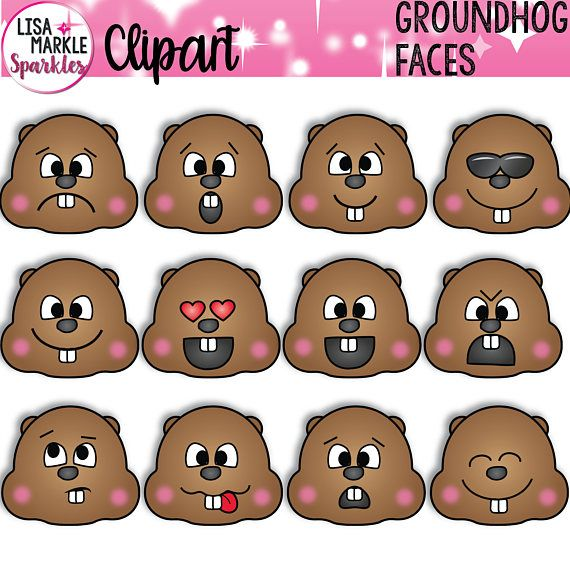 frye shoes groundhog clipart face of small