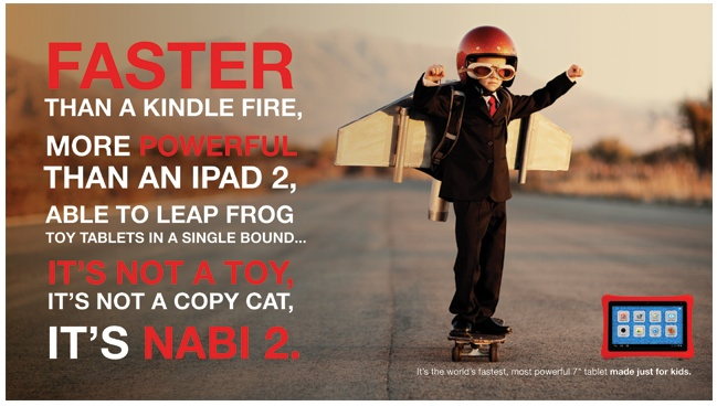 It's not a toy, it's not a copy cat. It's nabi 2 #tablet. Available now at Walmart, Best Buy and GameStop.