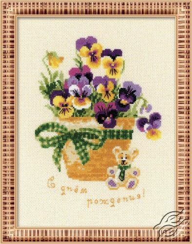 Happy Birthday - Cross Stitch Kits by RIOLIS - 1270