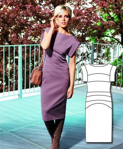 Featured Sewing Patterns ~ pattern 'Panneled Sheath Dress from BURDA ~ FREE PDF download