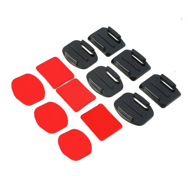 HOT SALE ! 2016 NEW 12Pcs Helmet Accessories Flat Curved Adhesive Mount For Gopro Hero 1/2/3 /3+,IN STOCK!