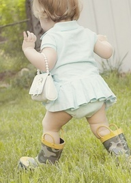 This is how your little girl is going to dress! Just like you!!