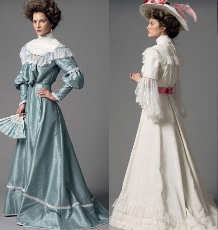 Butterick 5970 Sewing Pattern to MAKE Edwardian Style Boned Top & Skirt