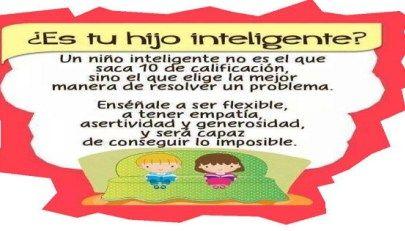 Si piensas que tu hij@ es inteligente porque saca 10, estás obsoleto.