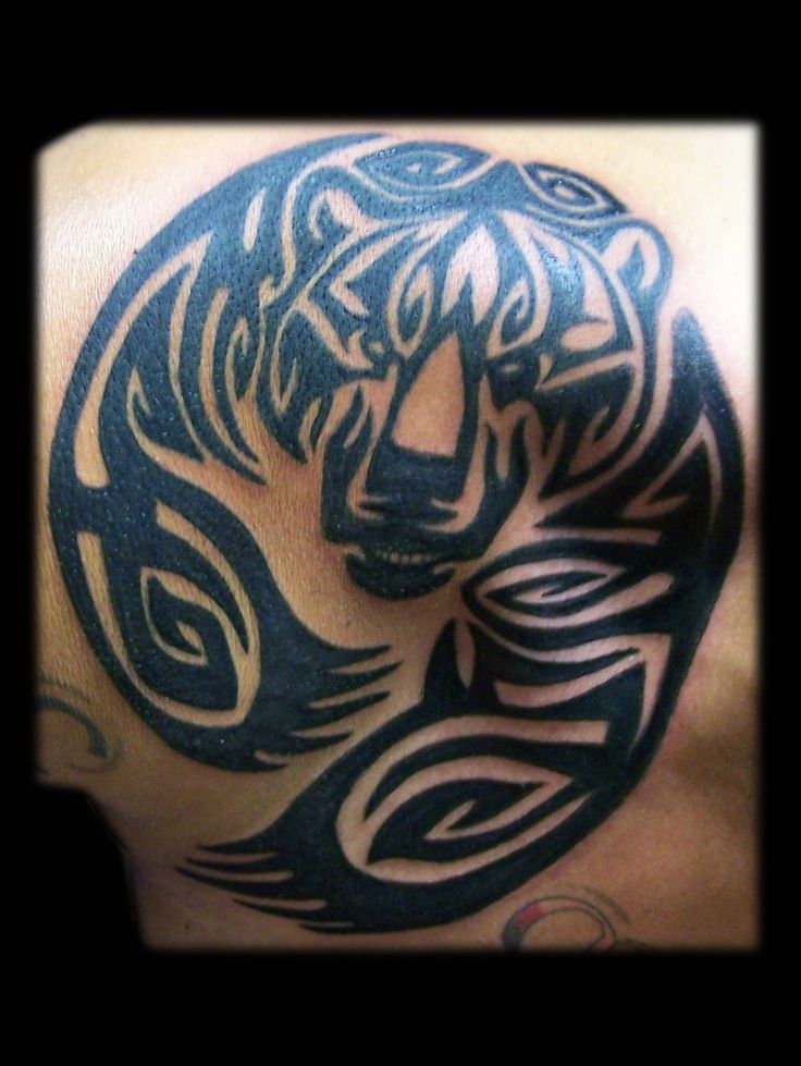 Tribal Bear Shoulder - Tattoo by Nina Gaudin of 12th Avenue Tattoo in Nampa, ID