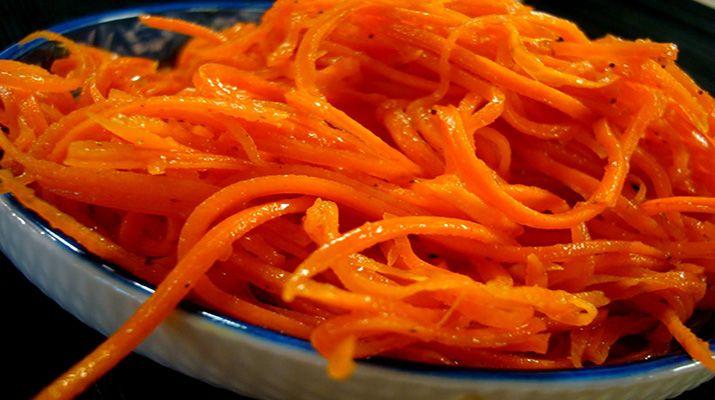 Морковь по корейски на зиму в дрмашних условиях