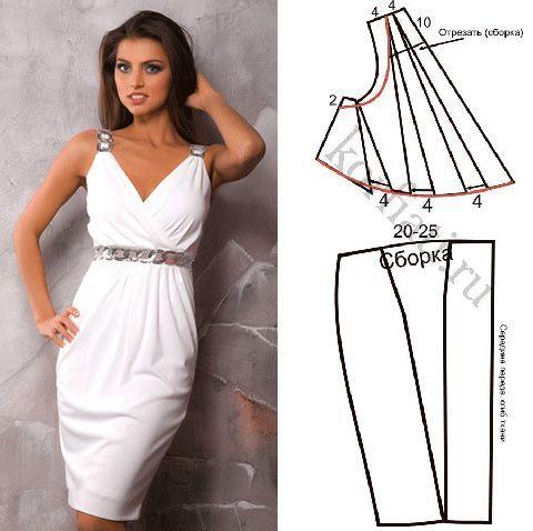 Выкройка платье в греческом стиле - Фото: