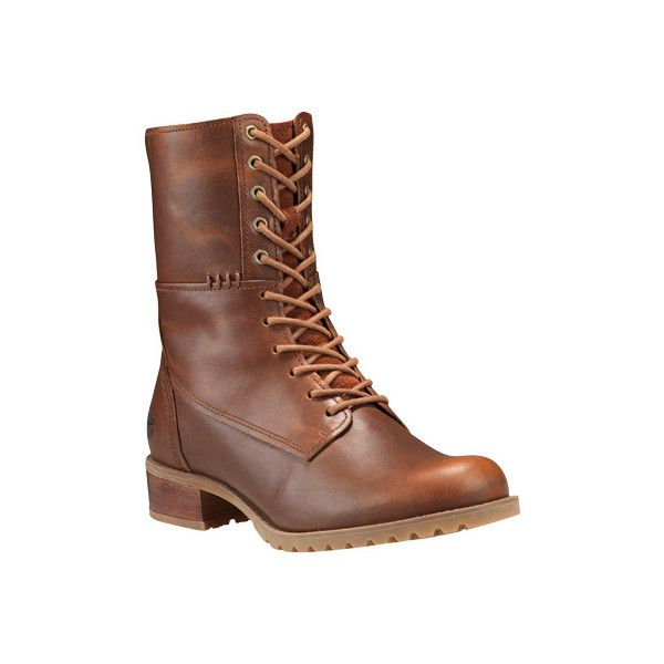 Timberland Women's Banfield Mid Lace Leather Boot Wheat Forty Full Grain  Leather Size 9 M, Brown