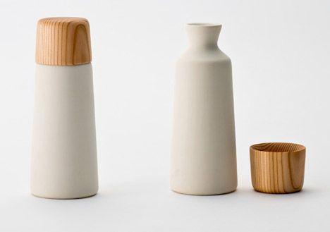 kazuya koike. sake cups made from japanese cedar.