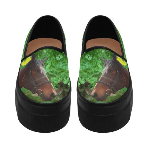 Horse and Grass Selene Deep Mouth Women Shoes (Model 311)