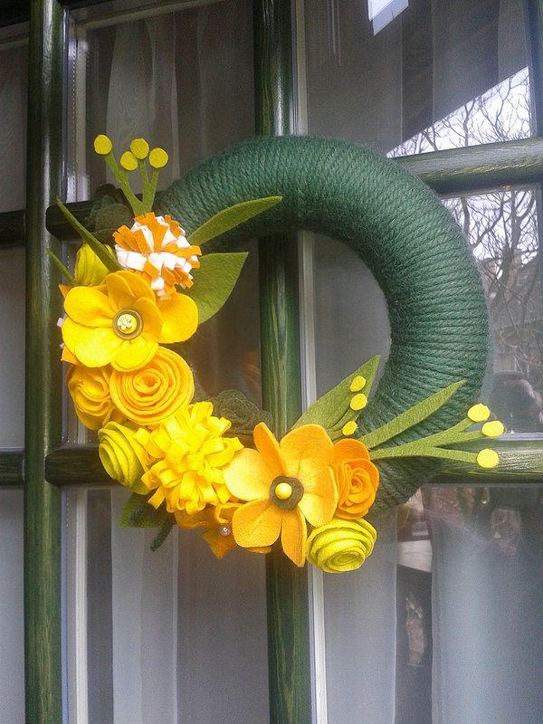 Spring - Felt wreath | Flickr - Photo Sharing!