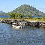 View of Pulau Maitara from Kalamata Fort in Ternate Maluku Islands