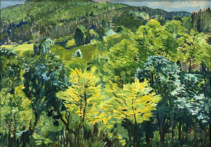ANTONÍN HUDEČEK (1872-1941) Jarní krajina