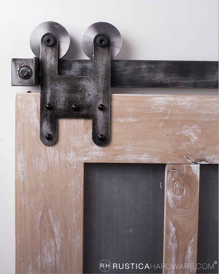 the new h strap barn door hardware has a solid and simple design this one - Bypass Barn Door Hardware