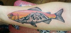 """Mountain Trout"" done by Tomcat at Rebel's Tattoo in Wenatchee WA."