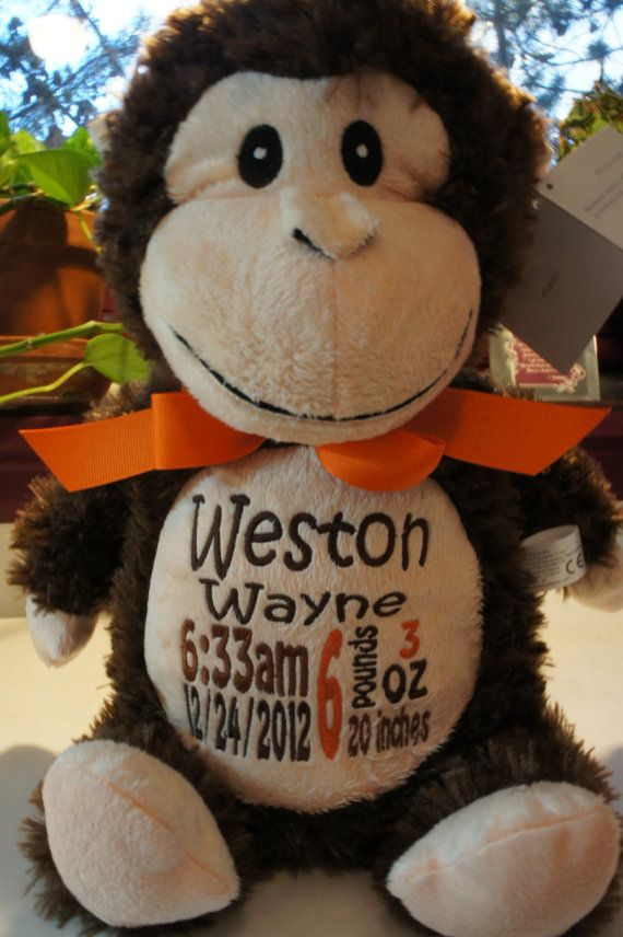 Personalized Baby Gift Quot Baby Cubbies Quot Huggles The Monkey