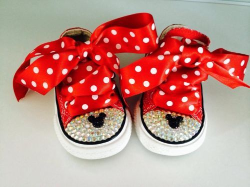 Customised Minnie Mouse Red low Ox Converse