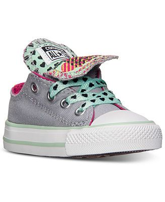 Converse Toddler Girls' Chuck Taylor All Star Double Tongue Casual Sneakers from Finish Line