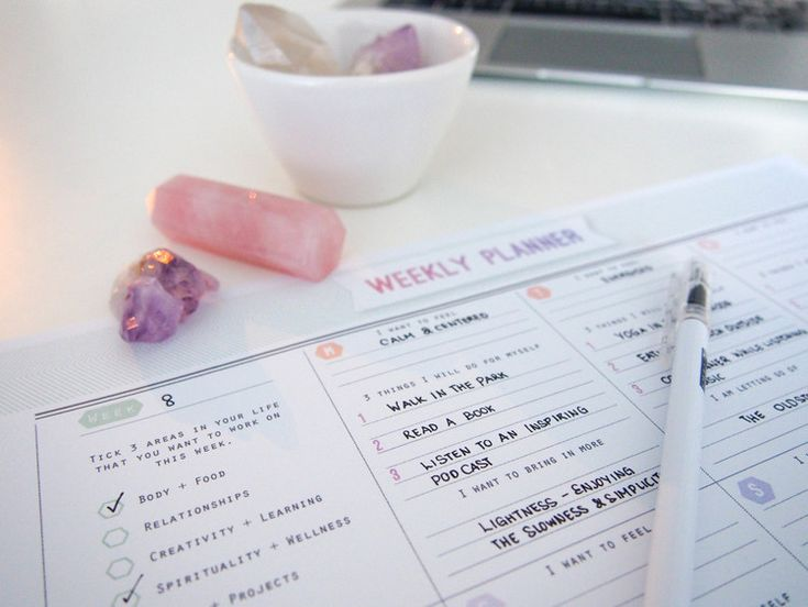 Free Download :: The Mindful Morning Weekly Planner