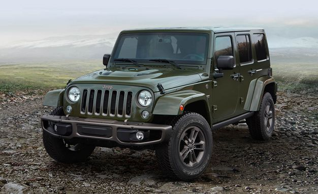 75th Anniversary Jeep Model in green and bronze