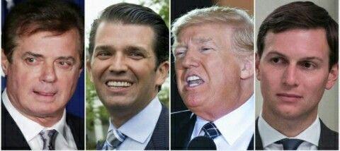 Paul Manafort,  ex-conseiller de Trump...Donald Trump... Donald Trump Junior....et le genre Jared Kushner...