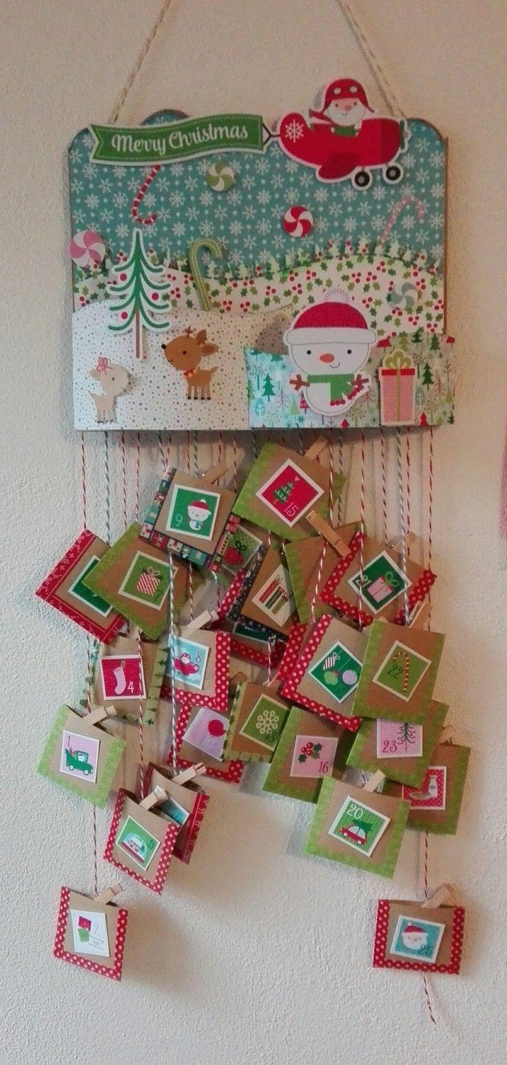 ADVENT CALENDAR FOR EMMA - Scrapbook.com #adventcalendar #calendariodellavvento #doodlebugdesign #christmas #natale