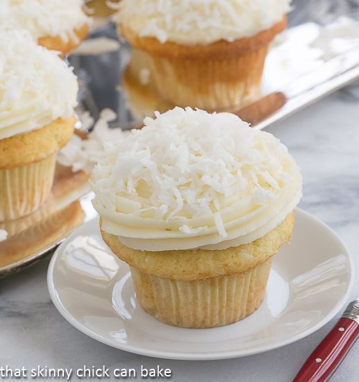 Coconut Cupcakes with Cream Cheese Frosting #HolidayFoodParty