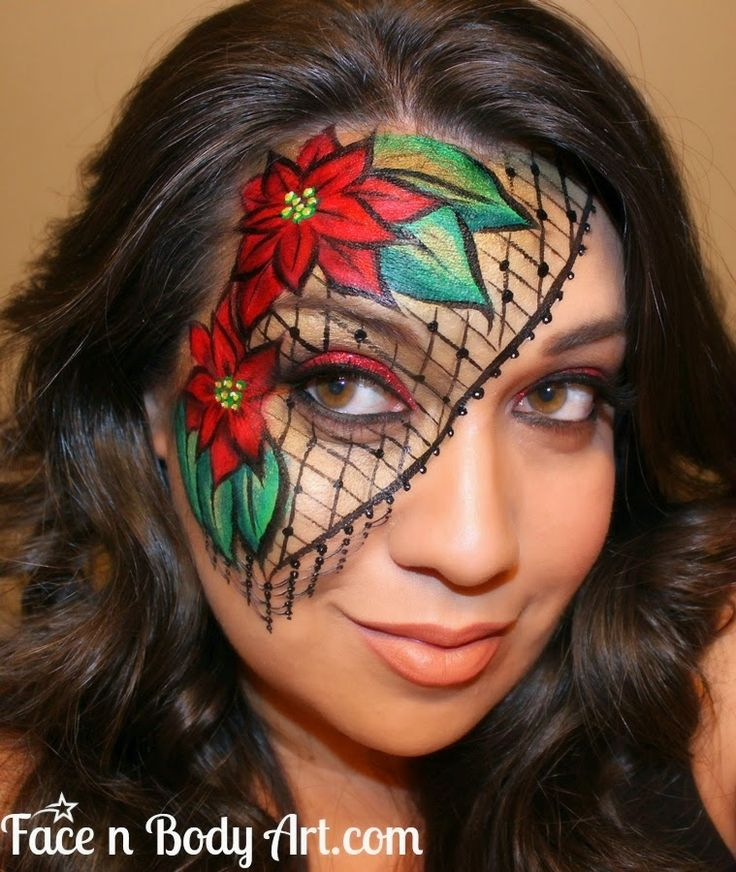 Shawna D. Make-up: Christmas Face painting designs