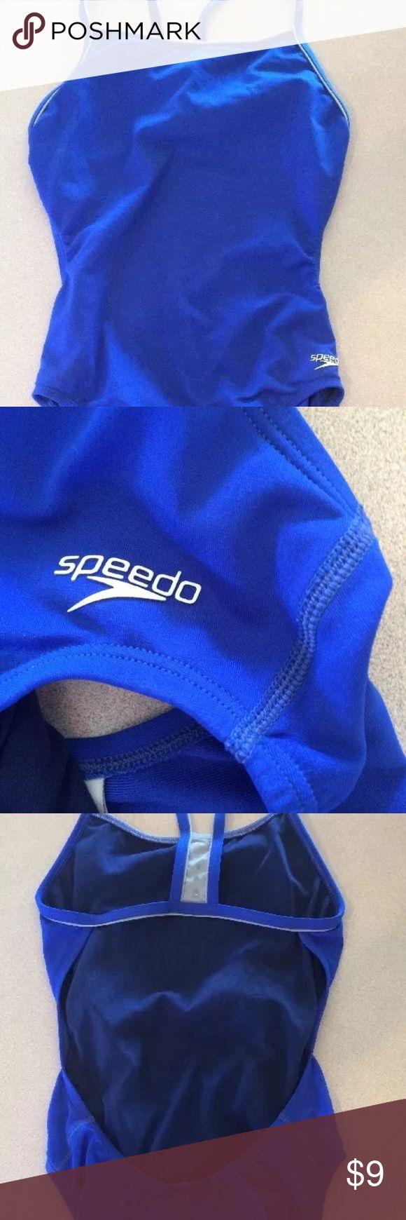 Speedo blue one piece swimsuit size 6 Speedo swimsuit one piece blue size 6 Speedo Swim One Pieces