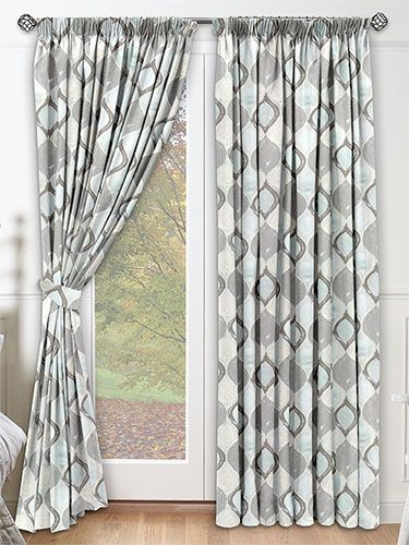Pomaire Aqua Curtains from Curtains 2go