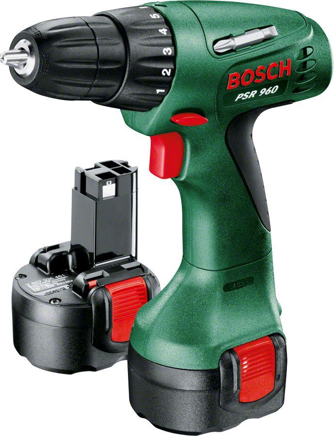 Bosch PSR 960 Ni-Cd Akülü Vidalama Makinesi - Çift Akü