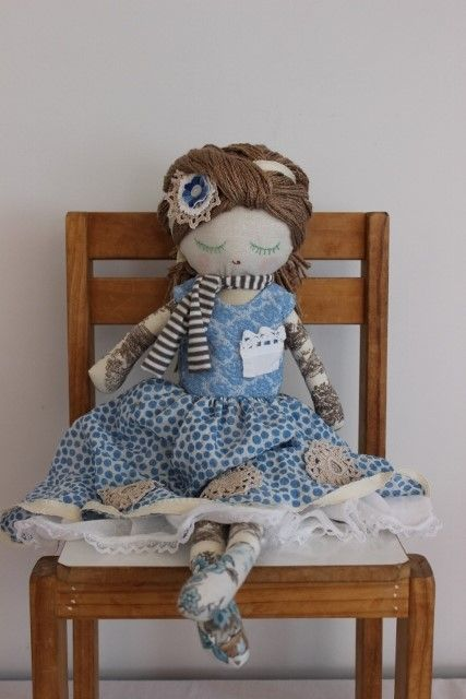 Toile arms and legs and a blue spotty dress : )
