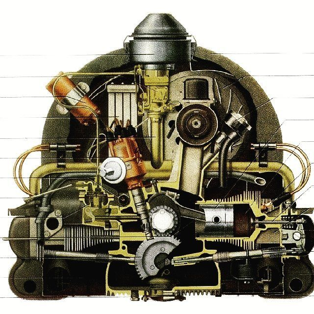 VW type 1 engine. Follow my instagram if you love  engineering @engineersclub57 Love to tag? Please do!  . . . . Credit: @engineersclub57 #mechanic #mechanical #mechanics #mechanicalmod #mechanicalengineering #mechanicalpencil #mechaniclife #mechanicalbull #mechanicalkeyboard #mechanicalanimals #mechanicalwatch #engineers #love #badass