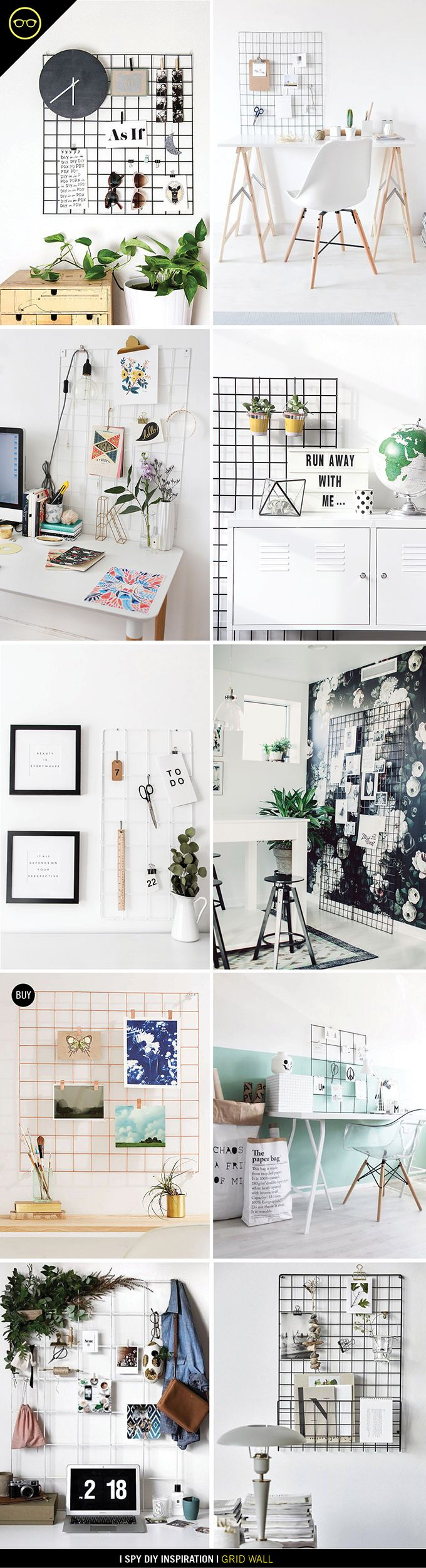 INSPIRATION | Grid Wall Organization