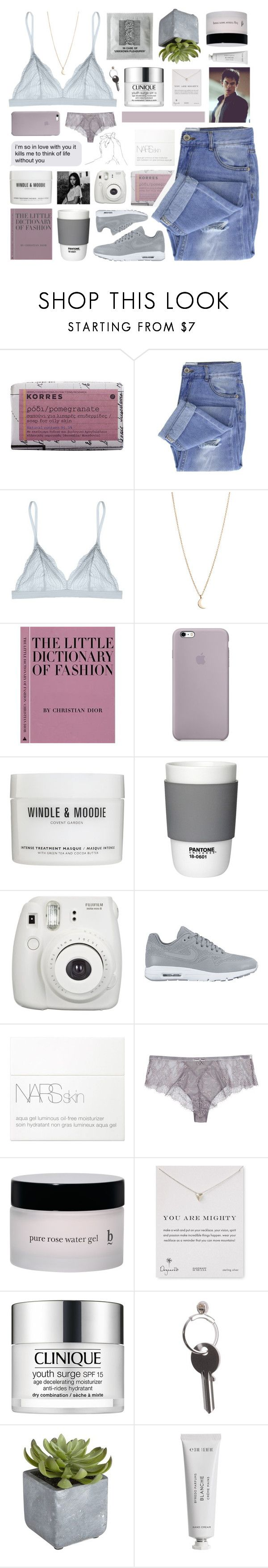 """KNOCK, KNOCK ON MY DOOR."" by samiikins ❤ liked on Polyvore featuring Korres, Taya, Cosabella, Minor Obsessions, Windle & Moodie, Pantone, Fujifilm, NIKE, NARS Cosmetics and Simone Perele"