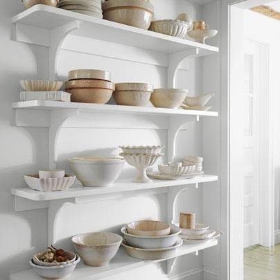 Love open shelves!