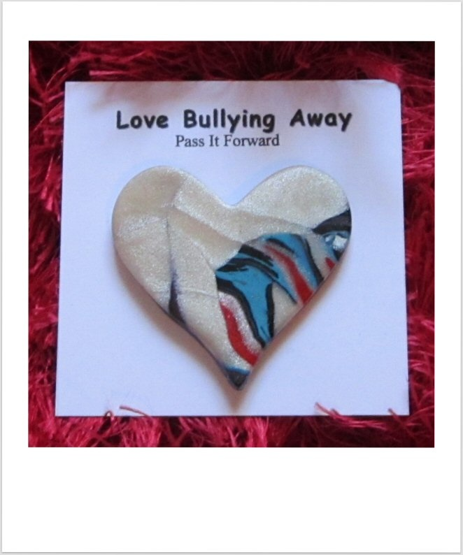 This is a Love Bullying Away Heartpass which is new. It is my hope it will open up a new conversation on the effects of bullying.