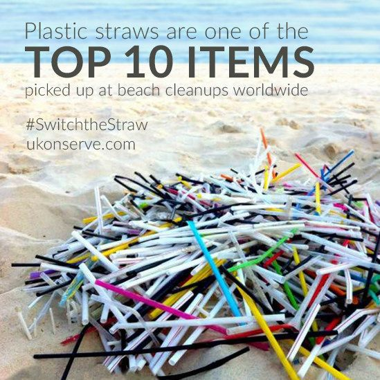 Ninety percent of all trash floating in the ocean is from plastic products. Animals are ingesting this plastic waste, especially straws.