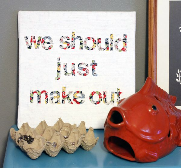 a lettered canvas DIY some feisty bedroom art....