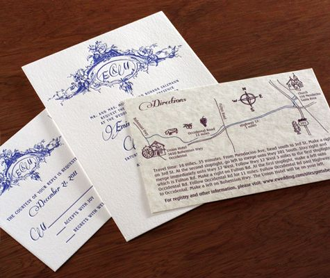 Maps with directions attached makes finding your wedding venue a piece of (wedding) cake!