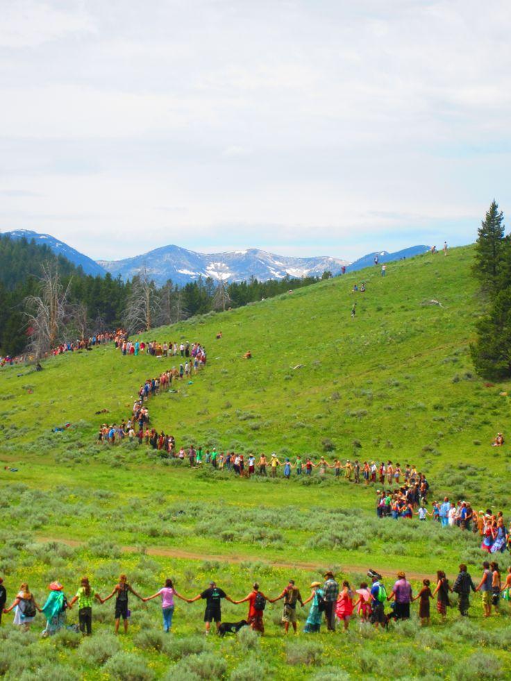 Rainbow Family Gathering, Montana.  Photo By Mandy Smith