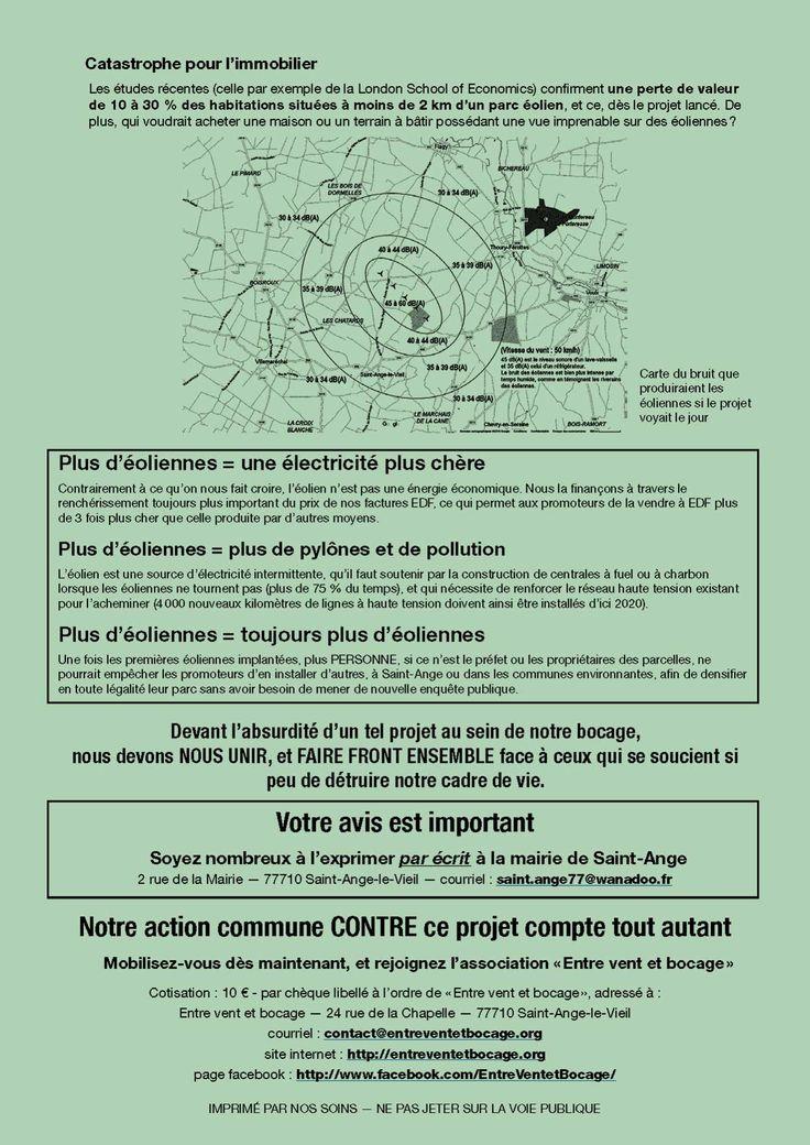 Tract du0027information Eoliennes Pinterest