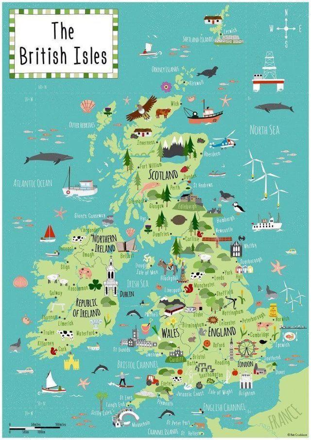 Britische Inseln Der Bek Cruddace Karte Aus Holz Puzzle