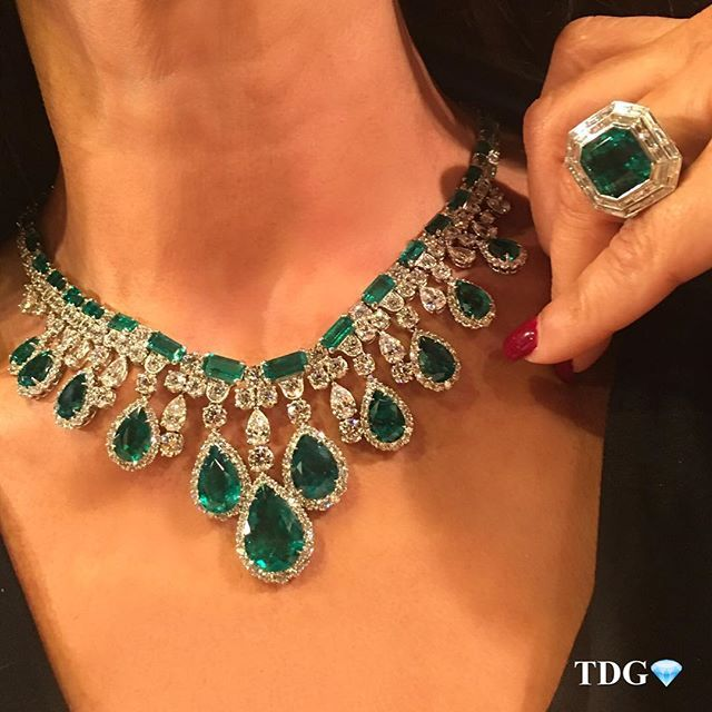 HELLO FROM @THE_DIAMONDS_GIRL!!! I am at the booth of @yafasignedjewels , HK Convention Center Grand Hall A03 , and literally don't know what to pick to post first for our Instagram account takeover!!!! First post is of this exquisite emerald and diamond necklace..... IN LOVE! Come visit us at the booth, @champagnegem and I are here all afternoon!  #yafasignedjewels #thediamondsgirl #thediamondsgirlxhongkong#emerald#diamond#thebest #igtakeover #love #inlove #thebest