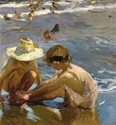joaquin sorolla | The Wounded Foot, 1909