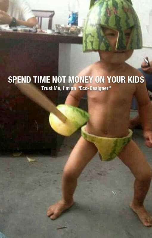 Spend time, not money, on your kids. Watermelon clothes!