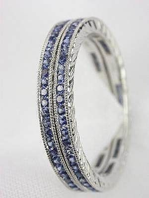 Fabulous Sapphire Wedding Bands...beautiful! <3