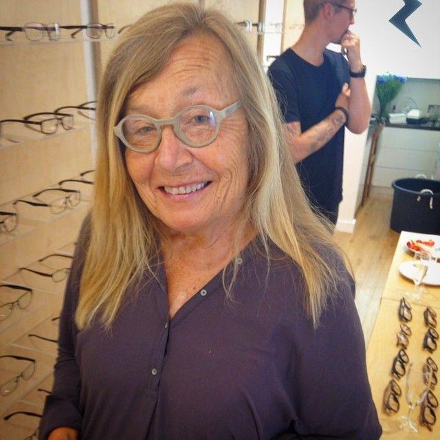 Bianca Wessel at LittleScandinavian: My mum trying cool eyewear at @crosseyeslondon #crosseyes #optician #eyewear