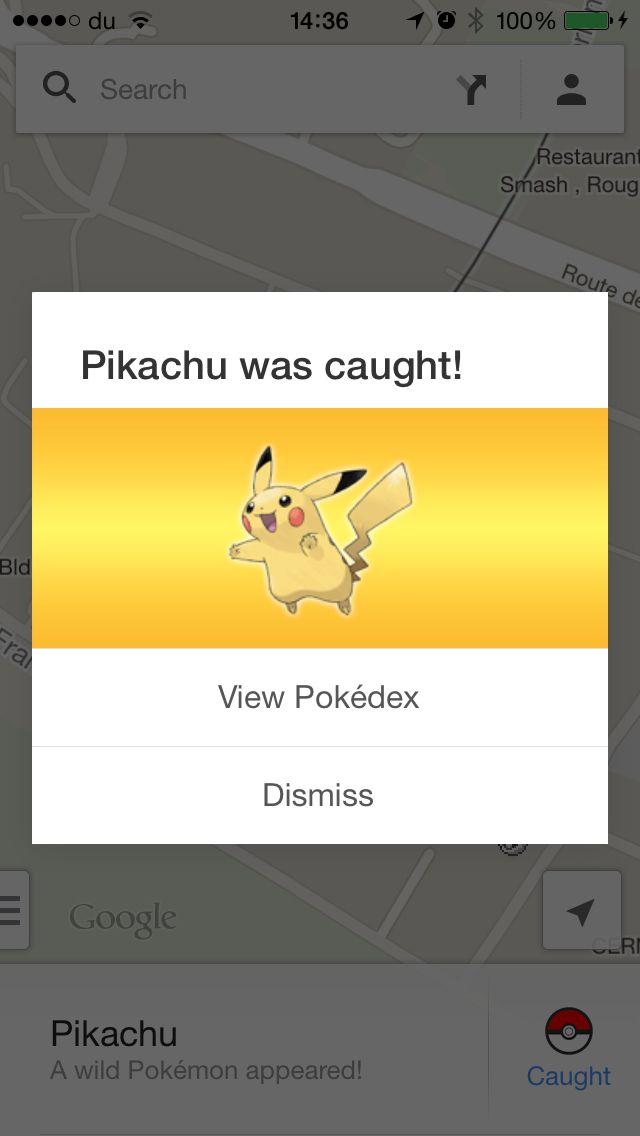 Google maps fun... Catch all 150 Pokemons